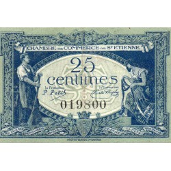 42 - SAINT-ETIENNE - CHAMBER OF COMMERCE - 25 CENTIMES - 12/01/1921