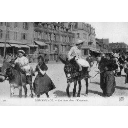 County - 62600 - PAS DE CALAIS - BERCK-PLAGE - DONKEYS IN THE FUNNEL