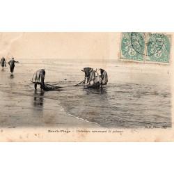 County - 62600 - PAS DE CALAIS - BERCK-PLAGE - FISHERS PICKING UP FISH