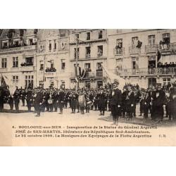 County - 62200 - PAS DE CALAIS - BOULOGNE-SUR-MER - 10/24/1909 - INAUGURATION OF THE STATUE OF JOSE DE SAN-MARTIN