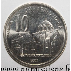 SERBIA - KM 37 - 10 DINARS 2003 - ORTHODOX MONASTERY OF STUDENICA