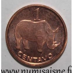 MOZAMBIQUE - KM 132 - 1 CENTAVOS 2006 - Rhinoceros