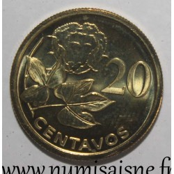 MOZAMBIQUE - KM 135 - 20 CENTAVOS 2006
