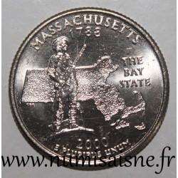 UNITED STATES - KM 305 - 1/4 DOLLAR 2000 P - Philadelphia - MASSACHUSETTS