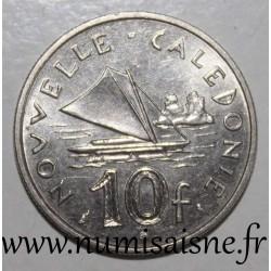 NEW CALEDONIA - KM 11 - 10 FRANCS 1972