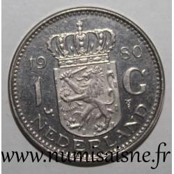 NETHERLANDS - KM 184a - 1 GULDEN 1980