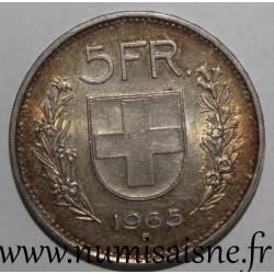 SWITZERLAND - KM 40 - 5 FRANCS 1965 B - SHEPHERD'S HEAD