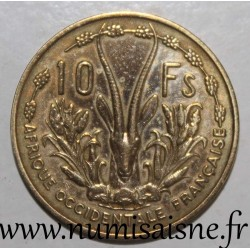 FRENCH WEST AFRICA - KM 6 - 10 FRANCS 1956 - MARIANNE - GAZELLE