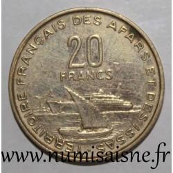 AFARS AND ISSAS - KM 15 - 20 FRANCS 1968