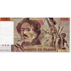 FRANCE - PICK 154 - 100 FRANCS DELACROIX - TYPE 1978 - 1990 - CONTINUOUS PRINTS