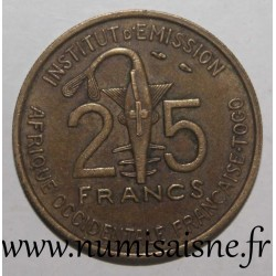 FRENCH WEST AFRICA - TOGO - KM 9 - 25 FRANC 1957 - GAZELLE