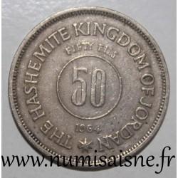 JORDAN - KM 11 - 50 FILS 1964 - AH 1383
