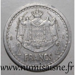 MONACO - KM 121 - 2 FRANCS 1943 - UNDATED - LOUIS II