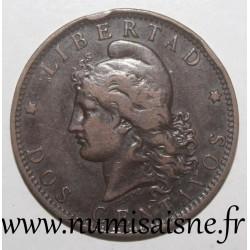 ARGENTINA - KM 33 - 2 CENTAVOS 1890