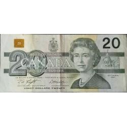 CANADA - PICK 97 d - 20 DOLLAR 1991