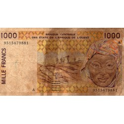 """WEST AFRICAN STATES - IE HOW - PICK 111 A e - 1.000 FRANCS 19(95) - """"A"""" - B C E A O"""