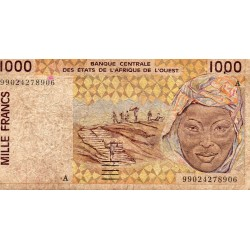 """WEST AFRICAN STATES - IE HOW - PICK 111 A i - 1.000 FRANCS 19(95) - """"A"""" - B C E A O"""