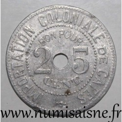 FRANCE - County 62 - BOULOGNE SUR MER - 25 CENT - COLONIAL LAYOUT OF COFFEE