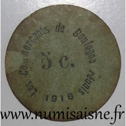 FRANCE - County 62 - BOULOGNE SUR MER - 5 CENT 1916