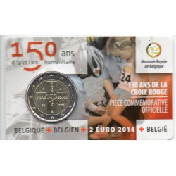 BELGIUM - 2 EURO 2014 - 150 YEARS OF THE RED CROSS - RODE KRUIS - COINCARD