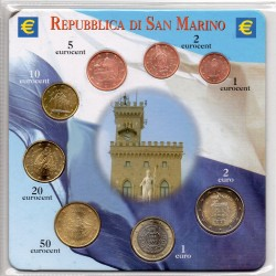 SAN MARIN - 3.88 EUROS MINTSET - MIXED YEARS - 8 COINS - UNCIRCULATED
