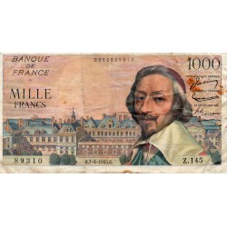 FRANCE - PICK 134 - 1000 FRANCS RICHELIEU - 07/04/1955