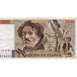 FRANCE - PICK 154 - 100 FRANCS DELACROIX - 1986