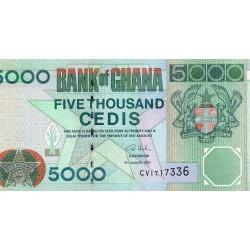 GHANA - PICK 34 - 5 000 CEDIS - 04/08/2003