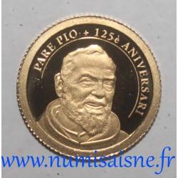 ANDORRA - KM 459 - 1 DINER 2012 - GOLD - PADRE PIO