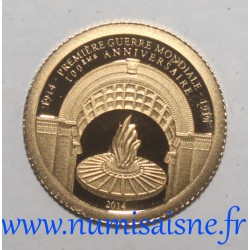 GABON - 1000 FRANCS CFA 2014 - 100 YEARS OF THE 1ST WORLD WAR