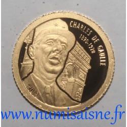 GABON - 1000 FRANCS CFA 2013 - CHARLES DE GAULLE