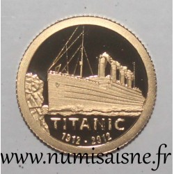 COOK ISLANDS - KM 1375 - 1 DOLLAR 2012 - TITANIC