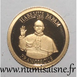 COOK ISLANDS - 1 DOLLAR 2013 - POPE FRANCISCUS