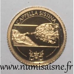 LIBERIA - 12 DOLLARS 2010 - SISTINE CHAPEL