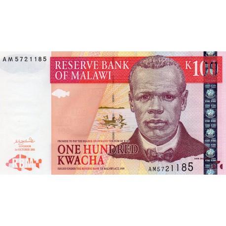 MALAWI - PICK 46 a - 100 KWACHA - 01/10/2001