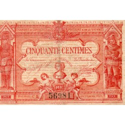 County 86 - POITIERSS - 50 CENTIMES - OCTOBER 1915 - CHAMBER OF COMMERCE