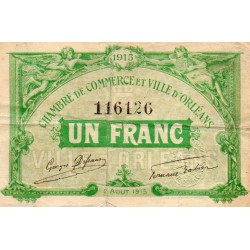 County 41 - ORLEANS - 1 FRANC 1915 - 02.08 - CHAMBER OF COMMERCE