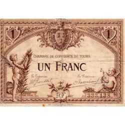 COUNTY 37 - TOURS - 1 FRANC 1915 - CHAMBER OF COMMERCE