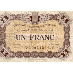 COUNTY 88 - EPINAL - 1 FRANC 1921 - CHAMBER OF COMMERCE
