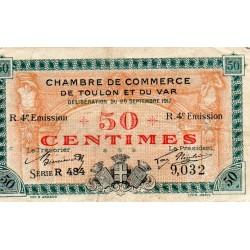 COUNTY 83 - TOULON - VAR - 50 CENTIMES 1917 - CHAMBER OF COMMERCE