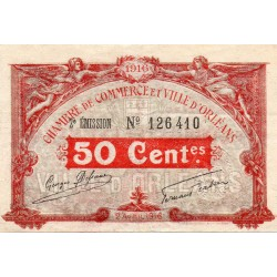 County 41 - ORLEANS - 50 CENTIMES 1916 - 02.04 - CHAMBER OF COMMERCE