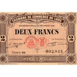 COUNTY 70 - LURE - 2 FRANCS 1920 - 25.09 - CHAMBER OF COMMERCE