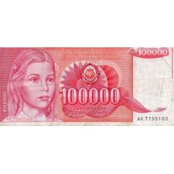 YUGOSLAVIA - PICK 97 - 100 000 DINARA - 01/05/1989