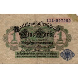 GERMANY - PICK 52 - 1 MARK - 12/08/1914