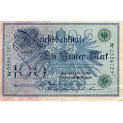 GERMANY - PICK 34 - 100 MARK - 07/02/1908