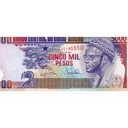 GUINEA BISSAU - PICK 14 b - 5 000 PESOS - 01.03.1993