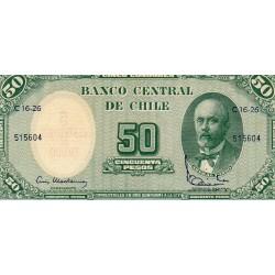 CHILE - PICK 126 - 5 CENTESIMOS / 50 PESOS - 1960