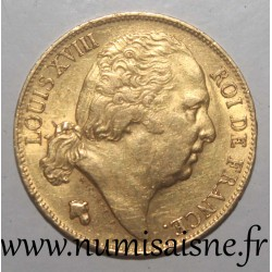 FRANCE - KM 712 - 20 FRANCS 1818 W - Lille - GOLD - LOUIS XVIII