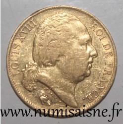 FRANCE - KM 712 - 20 FRANCS 1817 A - Paris - GOLD - LOUIS XVIII - KM 712