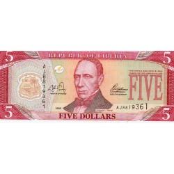 LIBERIA - PICK 26 a - 5 DOLLARS 2003